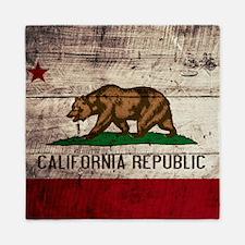 Wooden California Flag3 Queen Duvet
