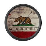 California flag Giant Clocks