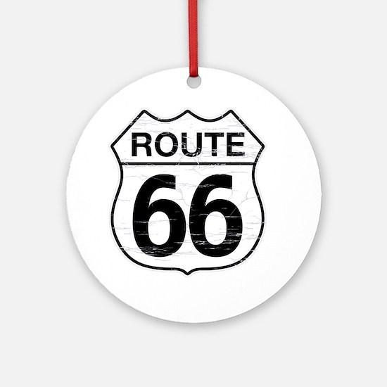 Route 66 W Ornament (Round)