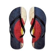 Wooden Colorado Flag2 Flip Flops