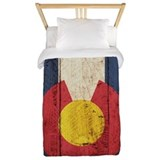 Colorado state flag Luxe Twin Duvet Cover