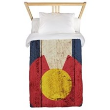 Wooden Colorado Flag2 Twin Duvet