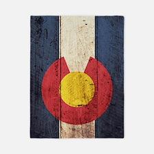 Wooden Colorado Flag2 Twin Duvet