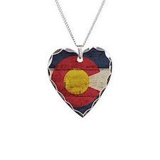 Wooden Colorado Flag3 Necklace