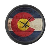 Vintage colorado flag Giant Clocks
