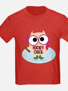 Owl Hockey Chick T