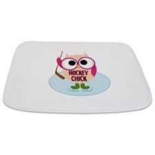Owl Hockey Chick Bathmat