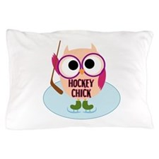 Owl Hockey Chick Pillow Case