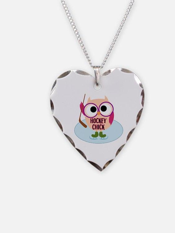 Owl Hockey Chick Necklace