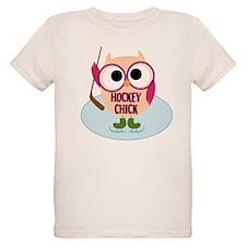 Owl Hockey Chick T-Shirt