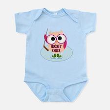 Owl Hockey Chick Infant Bodysuit