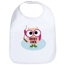 Owl Hockey Chick Bib