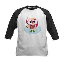 Owl Hockey Chick Tee