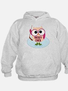 Owl Hockey Chick Hoodie