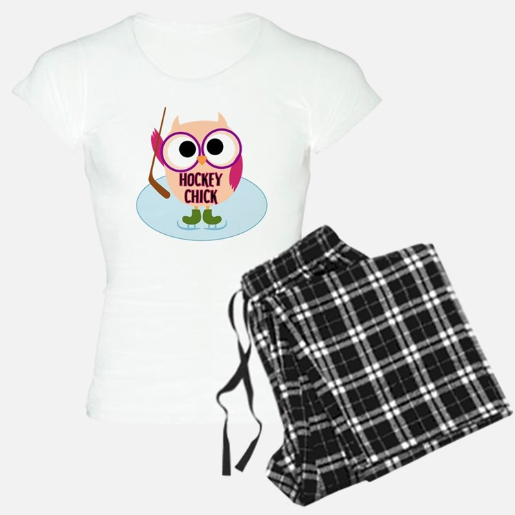 Owl Hockey Chick Pajamas