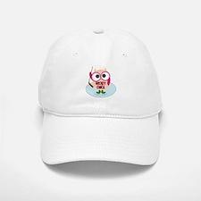 Owl Hockey Chick Baseball Baseball Cap
