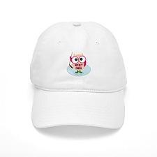 Owl Hockey Chick Baseball Cap
