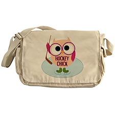 Owl Hockey Chick Messenger Bag
