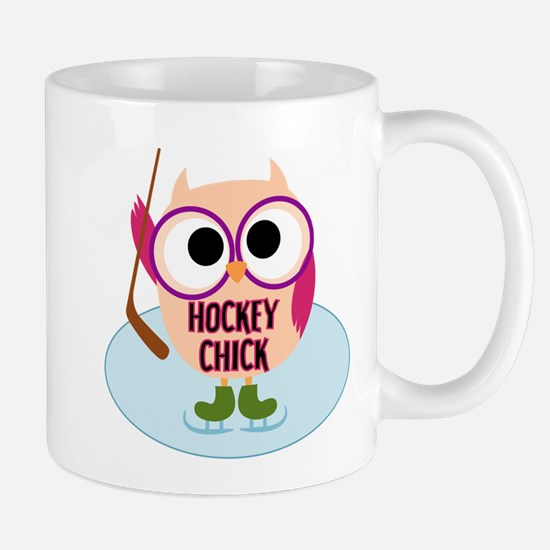 Owl Hockey Chick Mug