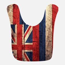 Wooden Hawaii Flag2 Bib