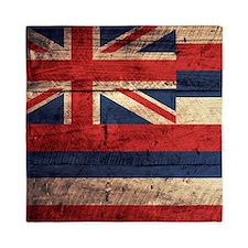 Wooden Hawaii Flag3 Queen Duvet