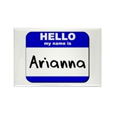 hello my name is arianna Rectangle Magnet