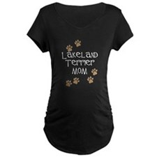 Lakeland Terrier Mom white Maternity T-Shirt
