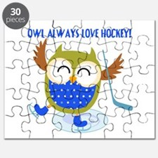 Owl Always Love Hockey Puzzle