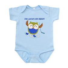 Owl Always Love Hockey Infant Bodysuit