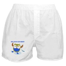 Owl Always Love Hockey Boxer Shorts