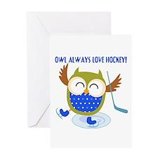 Owl Always Love Hockey Greeting Card