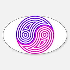 Yin Yang 19 Sticker (Oval)
