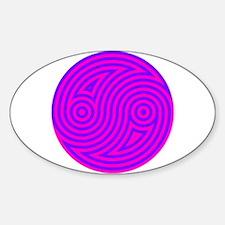 Yin Yang 20 Sticker (Oval)