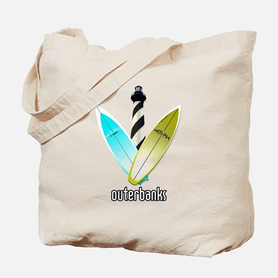 NOLINA OUTERBANKS SURF LIGHTHOUSE Tote Bag
