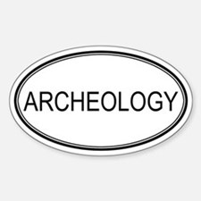 ARCHEOLOGY Oval Decal