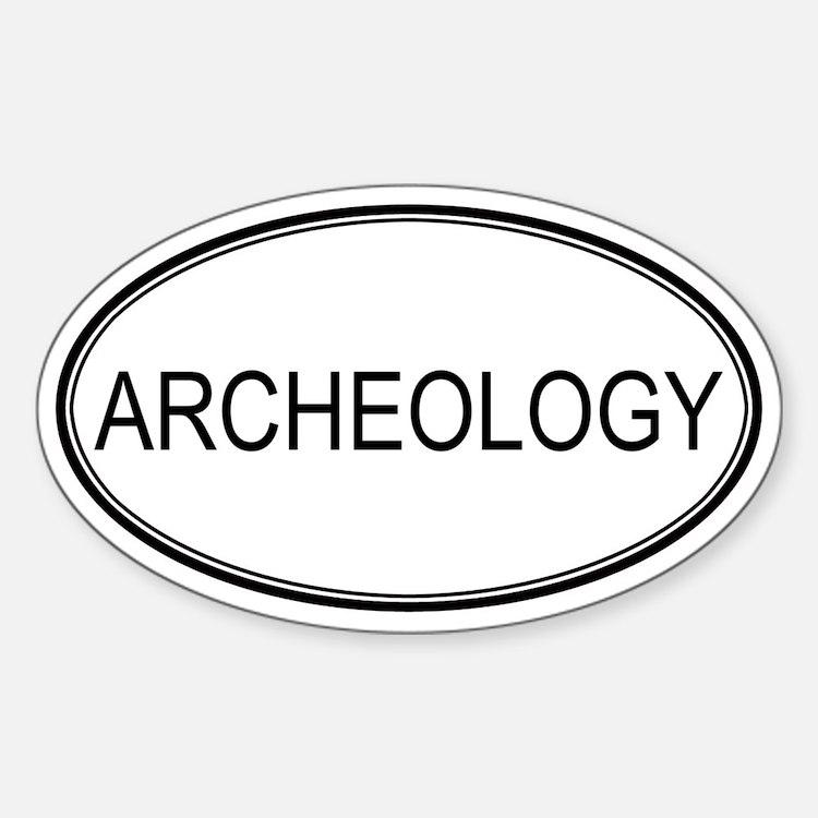 ARCHEOLOGY Oval Decal