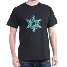 Turquoise Outline Snowflake T-Shirt