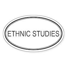 ETHNIC STUDIES Oval Decal