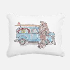 Classic Car Sasquatch Rectangular Canvas Pillow