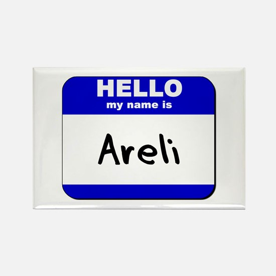 hello my name is areli Rectangle Magnet