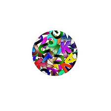 Colorful Alphabet Mini Button