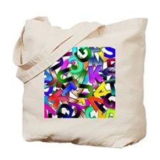 Colorful Alphabet Tote Bag
