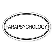 PARAPSYCHOLOGY Oval Decal