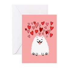 Pomeranian Valentine Greeting Cards (Pk of 20)