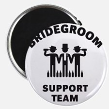 Bridegroom Support Team (Stag Party / Black Magnet