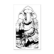 Seated Ganesh (Ganesha) Rectangle Car Magnet