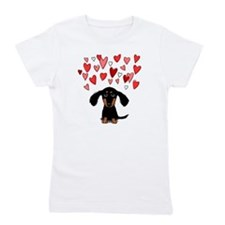 Cute Dachshund Girl's Tee