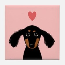 Dachshund Love Tile Coaster