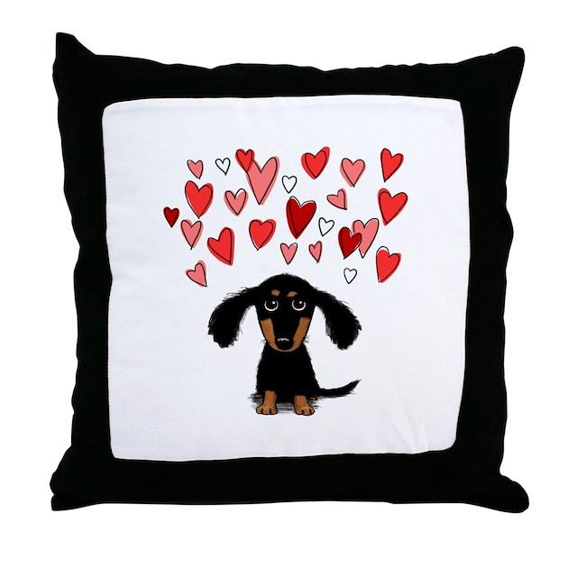 Cute Neutral Throw Pillows : Cute Dachshund Throw Pillow by mytreat