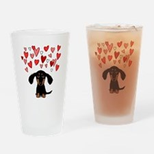 Cute Dachshund Drinking Glass